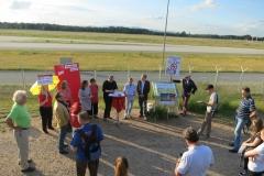 Fraktionssitzung an der Aussichtsplattform an der Landebahn Nordwest 4.7.16